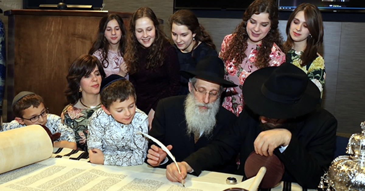A Daughter S Unique 25th Anniversary Surprise A New Torah