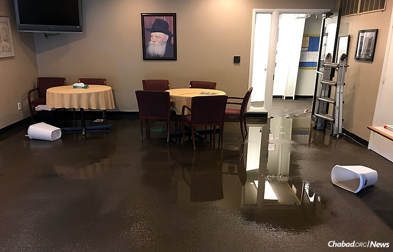 Five Inches Of Water Filled The Chabad House Center Of Kansas City In Overland  Park After