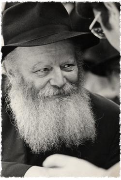 The   Rebbe, Rabbi Menachem Mendel Schneerson, of righteous memory