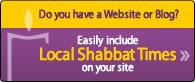 Shabbat Times Widget