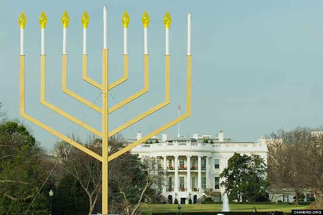 Towering above Presidentu0027s Park the lighting of the National Menorah has been an American Friends & White House Official Lights National Menorah - Photos - Chabad ... azcodes.com