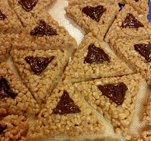 Rice Crispie Treat Hamantaschen Recipes Jewish Kids
