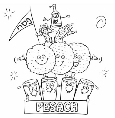 passover coloring pages for kids - photo#26