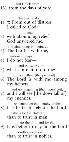 the tashlich prayer - english