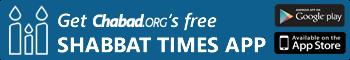 Free Shabbat Times App