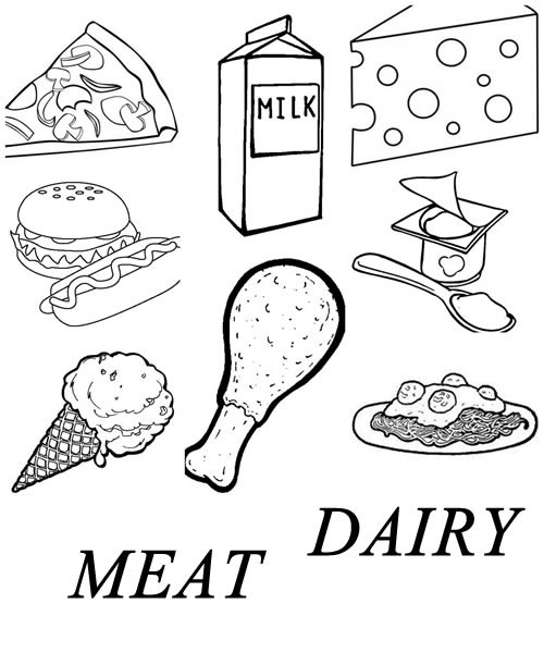meats coloring pages - photo#33
