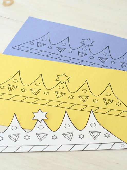 Printable Purim Crown Coloring Amp Crafts Jewish Kids