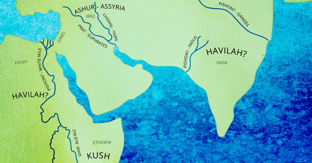 Where are the four rivers that come from eden parshah focus parshah River flowing from the garden of eden