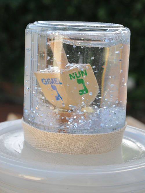 glittery dreidel snow globe - children u0026 39 s crafts